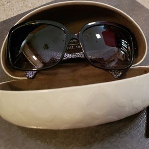 Coach Scarlet Black Sunglasses In Like new cond